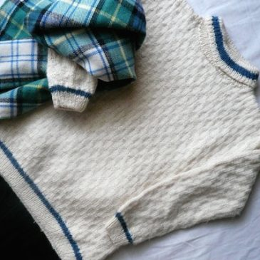70〜80's ivory white turtle‐necked sweater