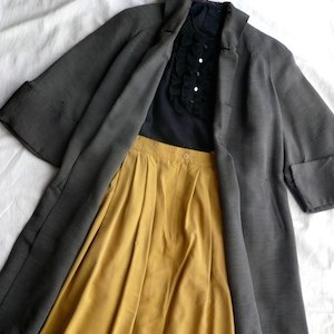 40's  Shawl collar A-line coat