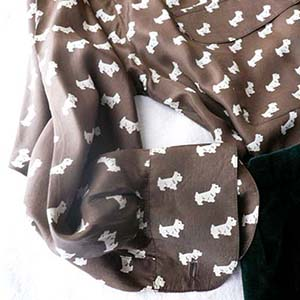 80's silk shirts with dog patterns