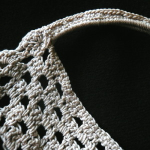 Antique crocheted lace bag