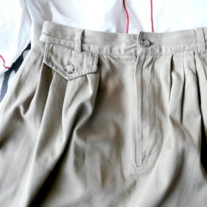 1980's chino cloth skirt