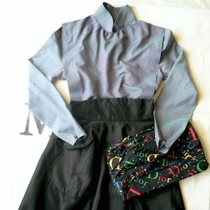 1950's black circular skirt