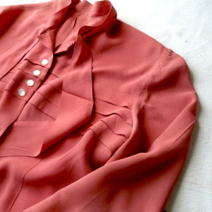 40's rose pink blouse
