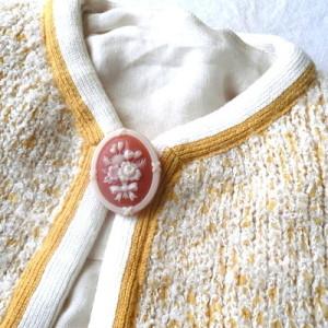 60's yellow knit JKT