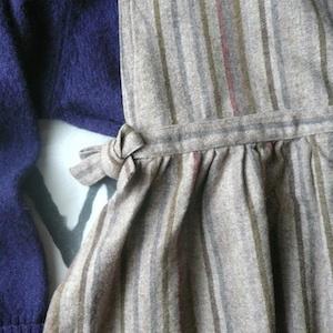 70's wool salopette skirt