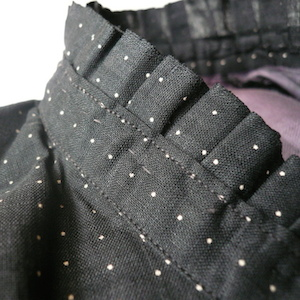 Edwardian cotton calico polkadot JKT
