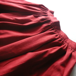 used deep red cotton skirt