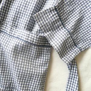 60〜70's gingham check robe