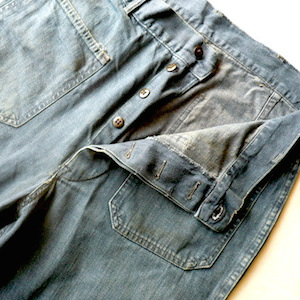 50's U.S. NAVY denim marine pants