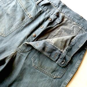 50's U.S. NAVY denim marine pants