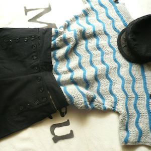 40〜50's u.s.navy wool marine pants**naval clothing factory