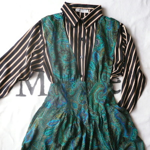80's paisley jumper dress