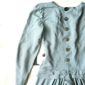 40〜50's pin-checked one-piece dress