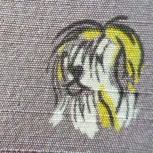 40〜50's dog printed silk skirt