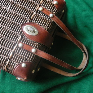 50〜60's Wicker handbag