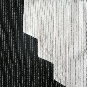 80's mono tone stripe one-piece dress