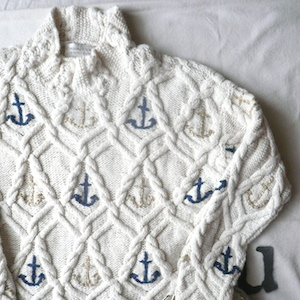 90's〜 anchor cotton sweater
