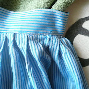 50's stripe silk skirt