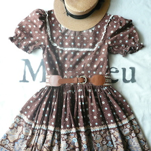50〜60's one-piece dress