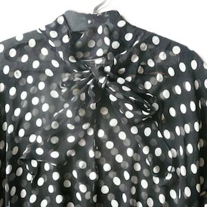 80's mono-tone dot dress