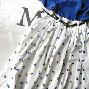 50's malti dots skirt