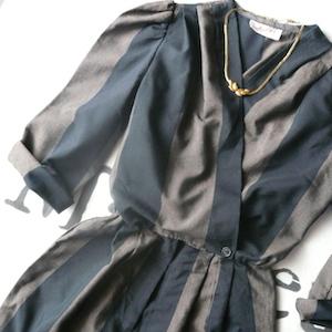 80's stripe jumpsuit