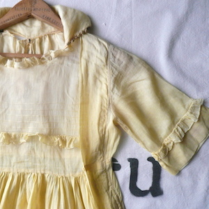 edwardian yellow gauze dress