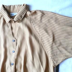 80's stripe oversized shirt