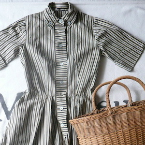 50's stripe cotton dress