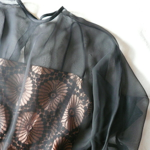 50〜60's sheer black dress