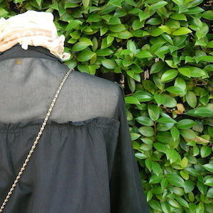 Used sheer black blouse