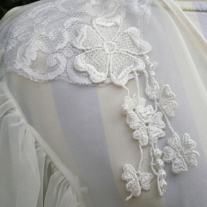 80〜90's white lingerie gown
