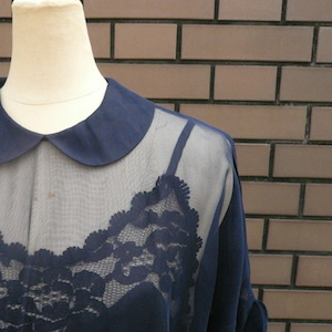 50's sheer navy dress