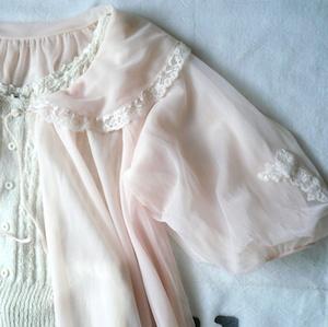 vintage baby pink lingerie