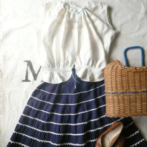 60's ric rac  skirt