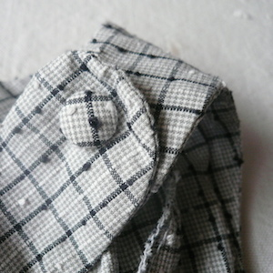 50's gray checked one-piece dress