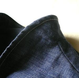 70's denim one-piece dress