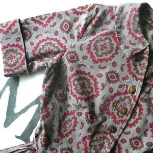 60's paisley printed cotton dress