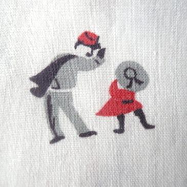 50's red collar cotton shirt