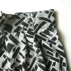 80's rayon skirt