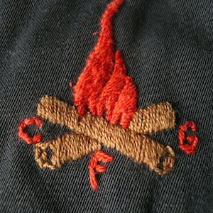 50's camp fire skirt & 60's cotton shirt