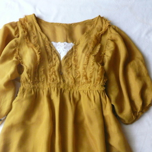 used mustard yellow gauze dress