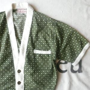 50's beach shirt & 80's koret denim easy pants