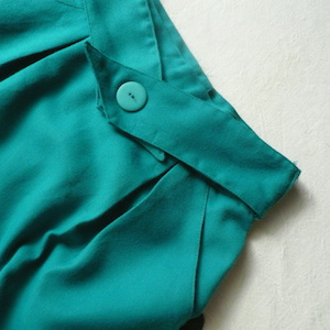 80's emerald green skirt