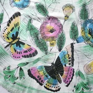 50's butterfly circular skirt