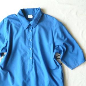 80〜90's blue shirt dress ★ thank you, chicks!