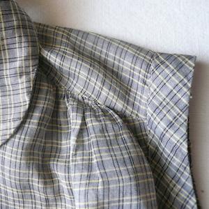 60's plaid sleeveless one-piece dress