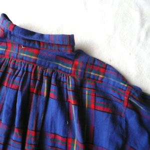 90's cotton flannel shirt dress