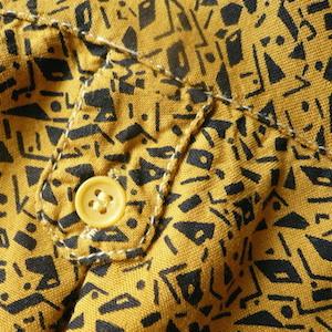 80's geometric pattern shirt