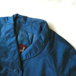 70's stripe shawl collar coat